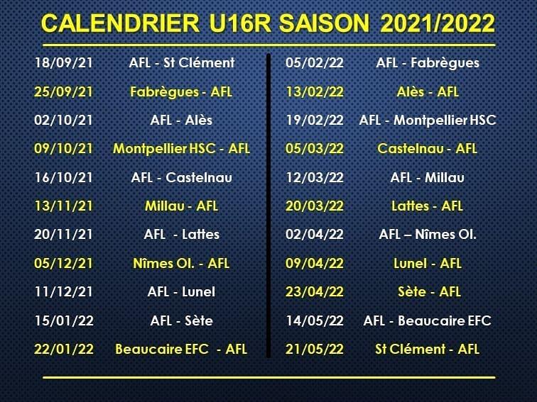 calendrier-U16R-2021-2022