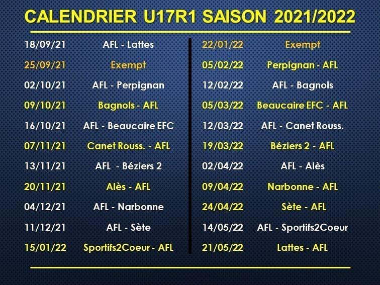 calendrier-U17R1-2021-2022